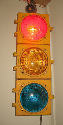 Working Traffic Light Signal Game Room, Man Cave, Bar, Conversation Piece