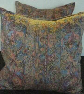 Pair Of 24 Inch Extra Large Giant Cushion  Lilac,Beige And Blue