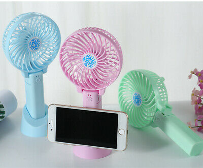 Mini Portable Hand-held Desk Fan Cooler USB Rechargeable Air Conditioner@gl