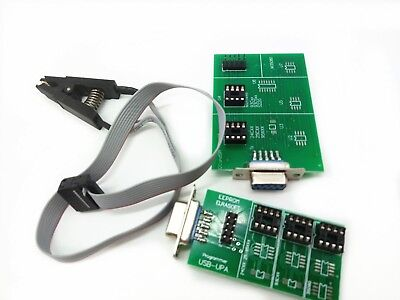 Upa Programmer Clip Eeprom Usb Adapter  V1.3 Board & 8 Soic for Upa Usb 1.3