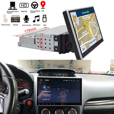10.1'' Single Din Android 9.1 GPS Head Unit Touch Screen Wifi  MP5 Bluetooth FM