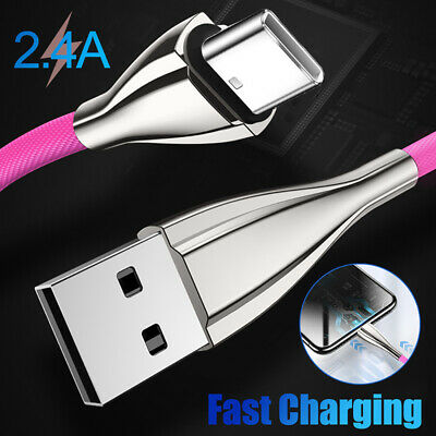 Rainbow Colour Braided USB Charger Data Sync For Smart phone Fast Charging Cable