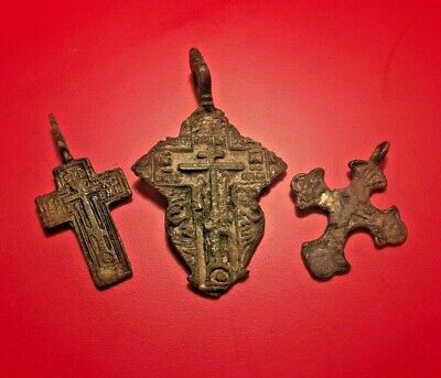 Antique Kievan Christian Orthodox Russian Bronze Cross
