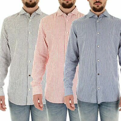 Mens Casual Jack & Jones Cotton Long Sleeve Stripped Slim Fit Shirts All Sizes