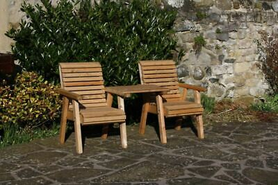 Garden Furniture / Patio Set High Back Roll Top Companion Seat Bench Solid Wood