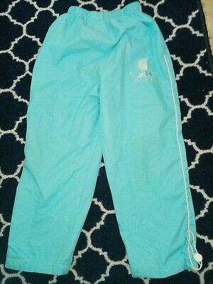 Girls Age 5-7 Turquoise Elasticated Trousers Mint Condition
