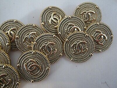 CHANEL CC   ANTIQUE GOLD  18mm BUTTON THIS IS FOR 14