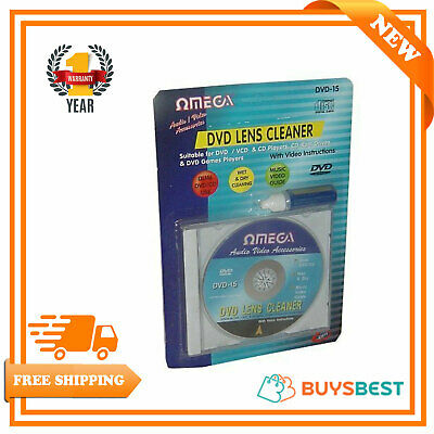 Omega Wet & Dry CD / DVD Lens Cleaner with Cleaning Fluid - 23015