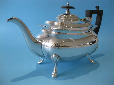 Beautiful Quality Large Antique Silver Plated Regency Style Footed Teapot
