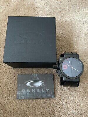 RARE OAKLEY GEARBOX Watch Black And Yellow Face Pre-Owned ... on