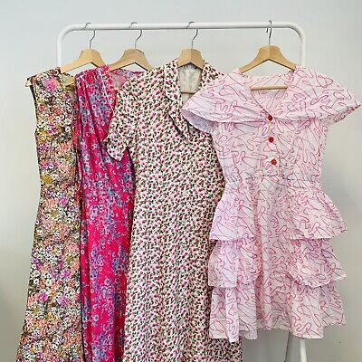 30 x LADIES VINTAGE SUMMER DRESSES  - GRADE A - BULK VINTAGE WHOLESALE