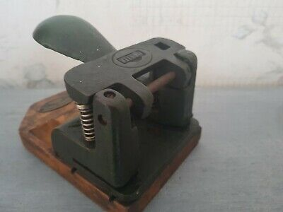 Early 20th century dark green Pyramid Punch Office hole puncher by Pioneer