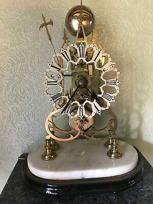 Beautiful Antique Skeleton Clock With Fusee Movement