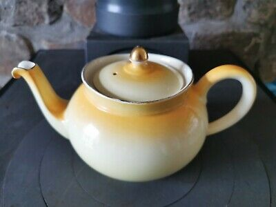 Vintage Yellow Bridgwood Teapot