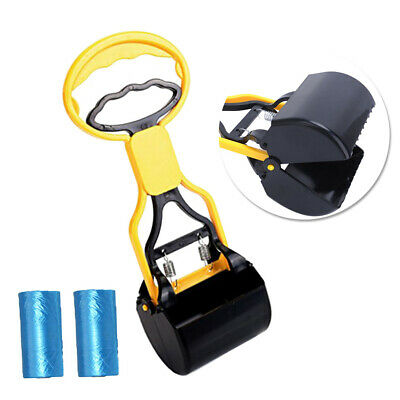 4-Piece Durable Dog Pet Pooper Scooper with 2pcs Poop Bags and a Bag Dispenser
