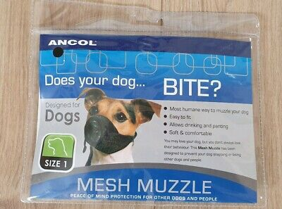 Ancol Mesh Muzzlefor Dogs, Size 1 Brand New!!