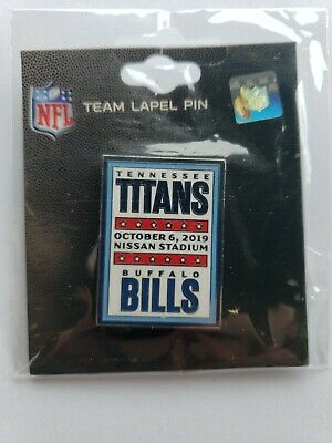 BUFFALO BILLS  VS TENNESSEE TITANS NFL GAME DAY PIN 10/6/19 Free Shipping