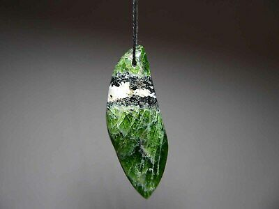 Natural Stone Jewelry Making Pendant Green Chrome Diopside DIY Focal Bead