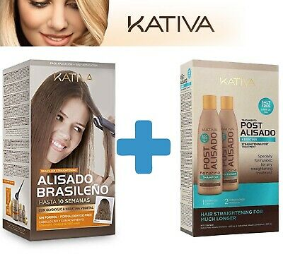 Kativa Brazilian Keratin Treatment+ Post Keratin Hair Repair Shampoo Conditioner
