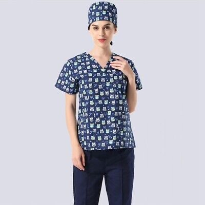 Men Women Scrubs Medical Surgical Working Clothes Doctor Uniforms Breathable