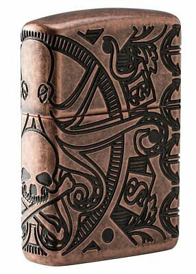 Zippo Nautical Scene, 360° Design, Armor Antique Copper Windproof Lighter #49000