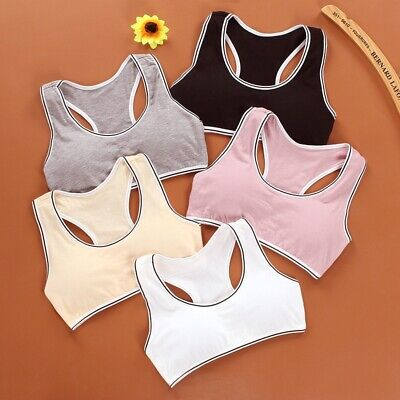 Girls Underwear Child Cozy Cotton Bra teenages High Elastic Sports Vest Tops New