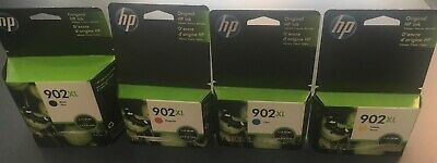 HP902XL Black, Cyan, Yellow, Magenta Full Set Ink Cartridge Genuine OEM Original