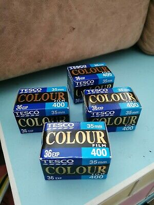 4 X Tesco 35mm Colour Film 400 36 exp all out of date