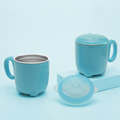 Cartoon Cup Tea Cup Coffee Cups Milk Tea with Handle Cap Cover for Kids ONE