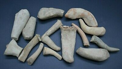 Mixed lot of ancient Indus Valley terracotta idol fragments 2nd millennium BC