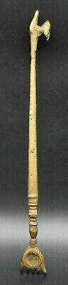 Near Eastern brass decorated back scratcher C. 18th - 19th century AD