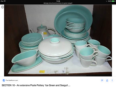 Large amount of Poole pottery - Ice Green & Seagull real 1950's - 80s. 1000's