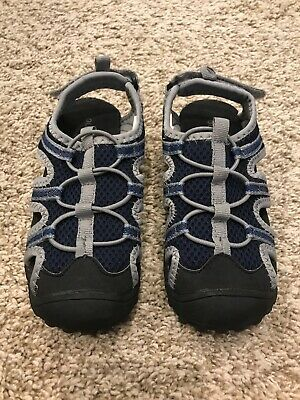 Old Navy Toddler Boy's Water Shoes Blue Black Gray Size 10 Pre Owned