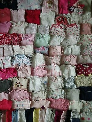 Massive Baby Girls Clothes Bundle 3 - 6 Months/Over 70 Items