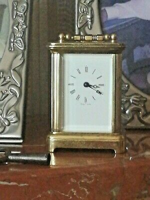 Vintage Swiss Made Miniature Carriage Time Piece
