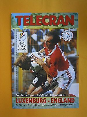 UEFA European Championship Qualifier - Luxembourg v England - 14th October 1998