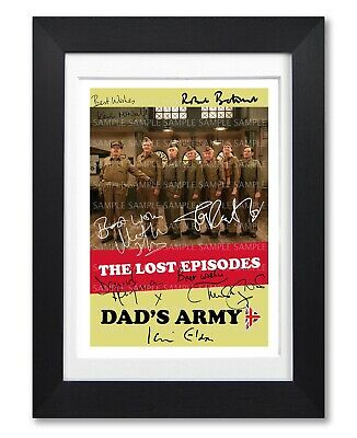poster cast multi Signed Autograph PRINT 6x4 GIFT DADS ARMY