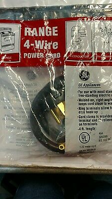 GE UNIVERSAL 3 PRONG WIRE 40 amp 40A RANGE CORD POWER CABLE 4/' LENGTH  WX9X10006