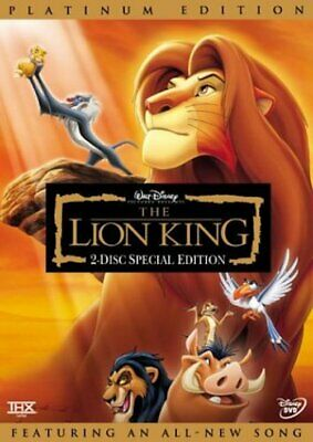 The Lion King DVD Platinum Edition 2 Disc Set Sealed New Slipcover Included