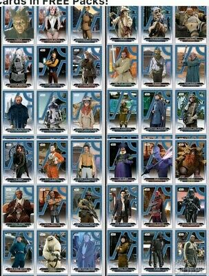 Topps Star Wars Card Trader SWCT Galactic Files 2018 Blue Wave 3 Set