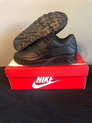 New Nike Air Max 90 Essential Men's Multi Sizes Black Running Shoes 537384 090
