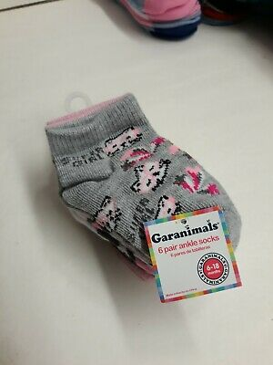 Garanimals Boys Baby Toddler 6 Pair Ankle Socks 0-6 Months Cushion Foot Striped