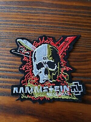 Rammstein Heavy Metal Rock Band Embroidered Iron On Band Patch.