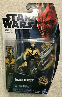 SAVAGE OPRESS star wars NEW clone wars animated CW3 action figure SEALED