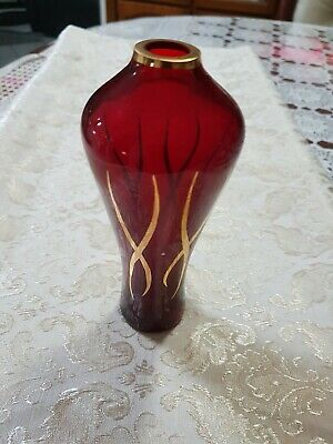 A  Vase With Gold Artwork