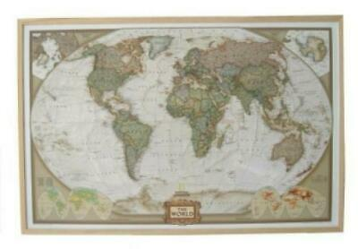 National Geographic the World, World Map on Corc Pinboard (Historical an 2220