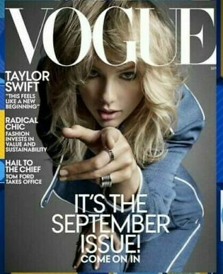 VOGUE MAGAZINE Taylor Swift: September 2019: Special Fashion Issue