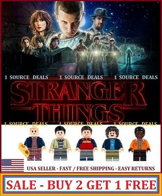 Stranger Things Fits LEGO Minifigures Eleven Mike Dustin Lucas Will (Best Deal)
