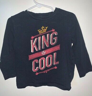 """Baby Gap Boys 2 Years Long Sleeve """"King of Cool""""  Graphic T-Shirt/Top"""