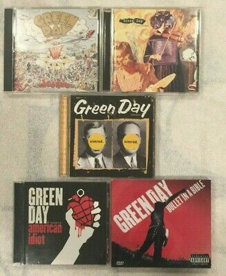 Green Day 5 CD 1 DVD Lot Bullet In A Bible Insomniac Nimrod American Idiot More